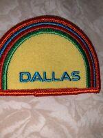 vintage 1970's Dallas Texas Rainbow Travel Souvenir Patch