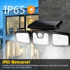74LED detector de seguridad de cabeza 3 Spot Luz Solar Sensor De Movimiento Foco al aire libre