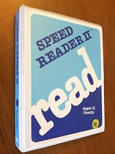Speed Reader II by Davidson for Apple II+,IIe,IIc,IIgs 1983