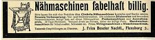 Cimbria-Nähmaschinen J.Fries Beseler Nachf. Flensburg Historische Annonce 1904