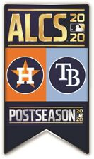 2020 ALCS BANNER PIN AMERICAN LEAGUE CHAMPIONSHIP SERIES TAMPA BAY RAYS V ASTROS