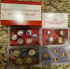 2009 US Mint Siver Proof Set-18 Coins - Box and COA