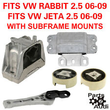 ENGINE TRANSMISSION MOUNT SET W SUBFRAME MOUNS KIT 2.5L ENGINE VW RABBIT, JETTA