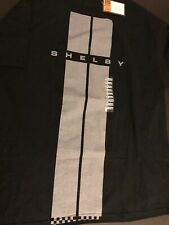 """Genuine Ford Shelby Mustang """"Racing Stripe"""" T-Shirt Men Size XL Black New Tag"""
