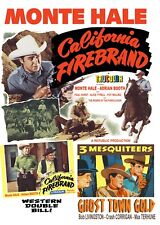 MONTE HALE- CALIFORNIA FIREBRAND- COLOR- GHOST TOWN GOLD - 3 MESQUITEERS DVD
