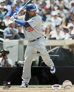 MANNY RAMIREZ LICENSED PSA/DNA AUTHENTICATED SIGNED 8X10 COLOR ACTION PHOTOGRAPH