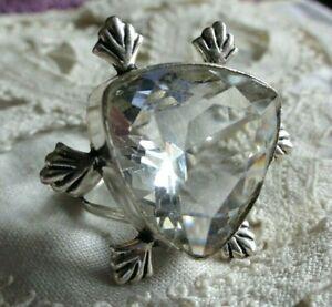 Ring, Silber, mit 1 großen Bergkristall, Gr.20