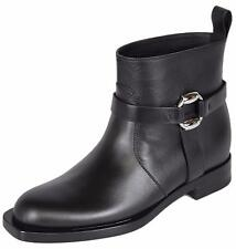 NEW Gucci Women's 370691 Black Leather Cirano Lux Ankle Boots Shoes 41.5 11.5