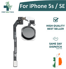 For iPhone 5s / iPhone SE Home Button Fingerprint Touch ID Flex Cable New Black