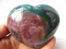 414g Rare Ocean Jasper Love Heart Polished Madagascar