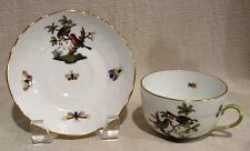 Herend Rothschild Bird Cup and Saucer # 1726