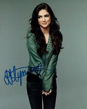 Janet MONTGOMERY SIGNED Autograph SEXY Posed 10x8 Photo AFTAL COA Human Target