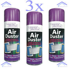 3 x Compressed Air Duster Spray Can Protects Cleaner For Laptops Keyboards 200ml