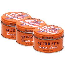 3 Packs Murray's Murrays Super Light Hair Dressing Shine Wax Pomade 3 oz