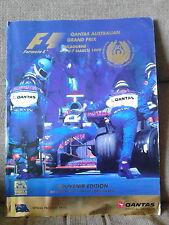 Qantas Australian Grand Prix 1999 Programme with Ticket and Circuit Map