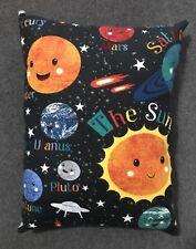 "Beautiful Handmade Fleece Solar System Accent - Throw Pillow 12"" x 10"" Planets"