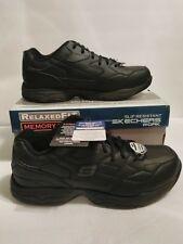 77032 Black size 12 Skechers shoe Memory Foam Work Men Comfort Casual Slip