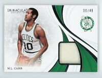 2018-19 M.L.Carr 30/49 Jersey Panini  Immaculate