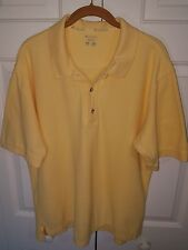 MEN'S COLUMBIA YELLOW SS BF POLO SHIRT SIZE LARGE A3