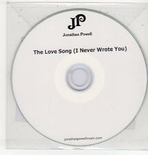 (ET721) Jonathan Powell, The Love Song (I Never Wrote You) - 2011 DJ CD