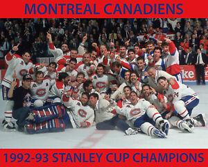 Montreal Canadiens 1992-93 Championship Team Photo