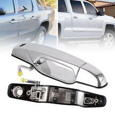 For 07-13 Chevy GMC Front Driver Side LH Chrome Texture Exterior Door Handle