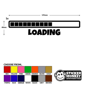 Loading Gamer Gaming Bar Cool Boys Girls Kids Wall Decal Sticker - Any Colour!