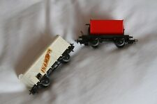 Marklin HO Gauge  DB Tipping Wagon and Covered Goods Wagon