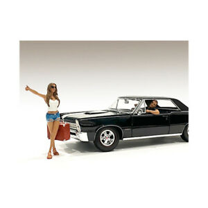 Hitchhiker 2 piece Figurine Set (White Shirt) for 1/18 Scale Models by Americ...