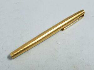Vintage 1980's Parker 75 Tiffany Grid 14K Gold Nib Fountain Pen