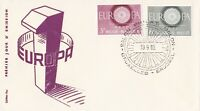 EU18) Belgium 1960 Europa Stamps On First Day Cover