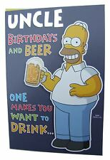 Simpsons homer & beer birthday card for an UNCLE by Hambledon – HLW128