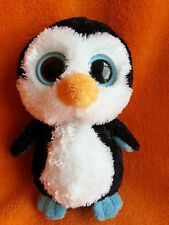 """TY Beanie Boo Penguin Soft Toy 7"""" 2012 Non Sparkly Eyes"""