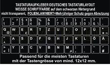 TASTATURAUFKLEBER DEUTSCHES TASTATURLAYOUT(QWERTZ) TASTENGRÖSSE 12x12 mm
