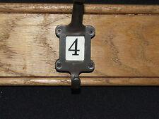 Classic oak coat rack with  cast iron 'school style' hooks