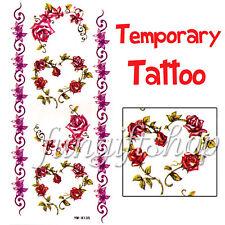 1 Sheet Temporary Tattoo sheet Rose Liliy Heart Skin F1