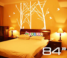 """Wall Decor Decal Sticker Mural Removable Staggered Branch Tree Trunk birds 84"""""""