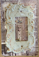 Dimmer Switch Plate Set of 4 Antique White Florentine