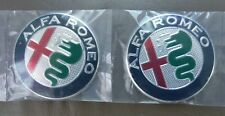 ALFA Romeo badges x 2 Chrome 74 mm ALUMINIUM badges logo 147 156, 159,166