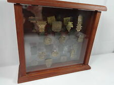44 Indianapolis 500 1965 - 2007 Pit Badge with Table Top Display Case
