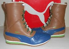 PUMA Women's Duck Runner Lace-up Boots Tobacco Brown/Blue US 8.5/EU 39 New NIB