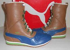 PUMA Women's Duck Runner Lace-up Boots Tobacco Brown/Blue US 8.5/EU 39 New NIB