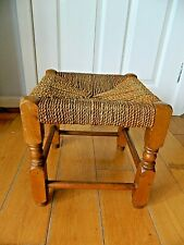 Vintage Retro Lovely Small Wooden Stool with String Seat