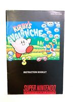 Kirby's Avalanche Super Nintendo Instruction Manual Booklet Book NO SNES GAME