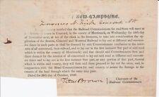1846 Original RAILROAD BROADSIDE New Hampshire Titus Brown Not In OCLC AAS RARE!
