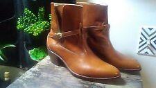 Vtg Jean Pier Clemente Brazilian Leather Rodeo Womens 9.5D Cowboy Boot Wood Heel