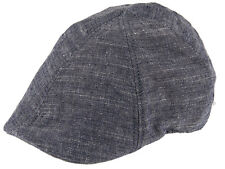 Hawkins Mens 100% Cotton Lightweight Preformed Peak Flat Cap Summer Sun Hat