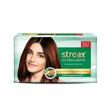 SOFT RED Streax Highlighting Kit for Hair With Ultra shine Conditioner, 60gm