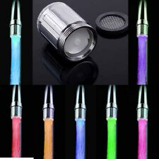 1Pc LED Kitchen 7 Colors Change Water Saving Faucet Aerator Led Water Tap Light