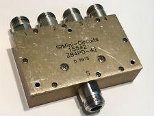 MINI-CIRCUITS ZB4PD-42  10W 4 WAY N TYPE RF POWER SPLITTER  1.7 - 4.2GHz  ae1v17